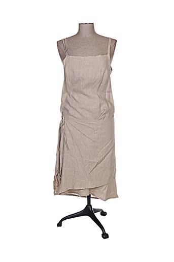 cassiopee robes femme de couleur beige
