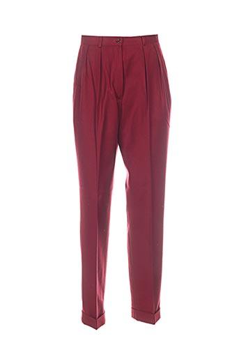gerard darel pantalons femme de couleur rouge