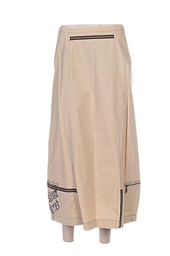 Jupe longue beige CAROLE RICHARD pour femme