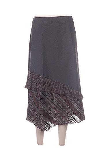 Jupe longue marron CAROLE RICHARD pour femme