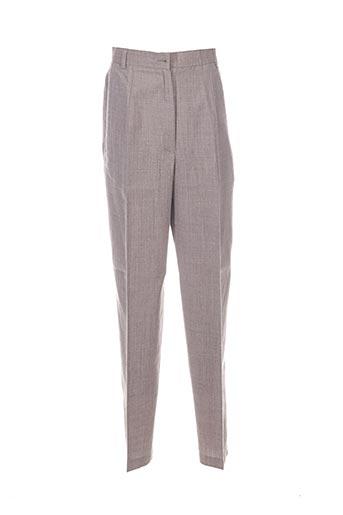 Pantalon chic beige CAROLE RICHARD pour femme