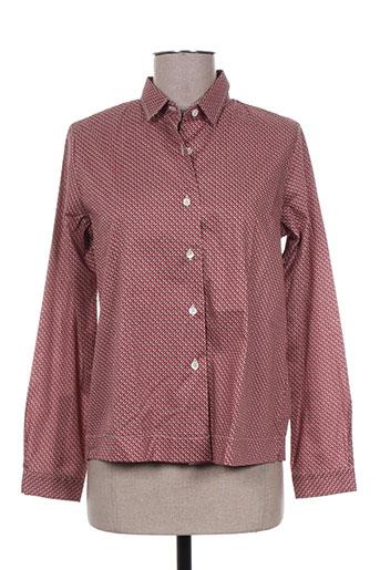 gaia boldetti chemises femme de couleur rouge