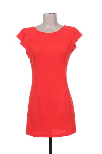 callisto robes femme de couleur rouge
