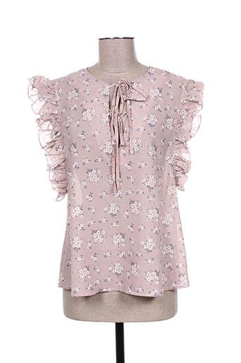 acbelle chemises femme de couleur rose