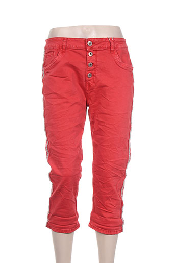 karostar pantacourts femme de couleur rouge