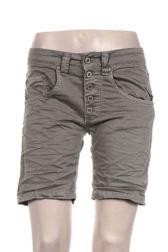 please shorts / bermudas femme de couleur gris