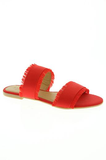pieces chaussures femme de couleur rouge