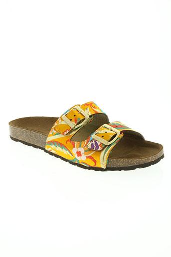pieces chaussures femme de couleur orange