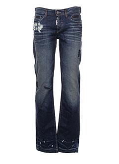 Jeans coupe droite bleu DOLCE & GABBANA pour homme