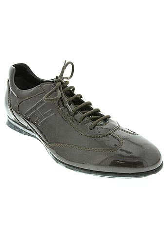 hogan chaussures homme de couleur marron