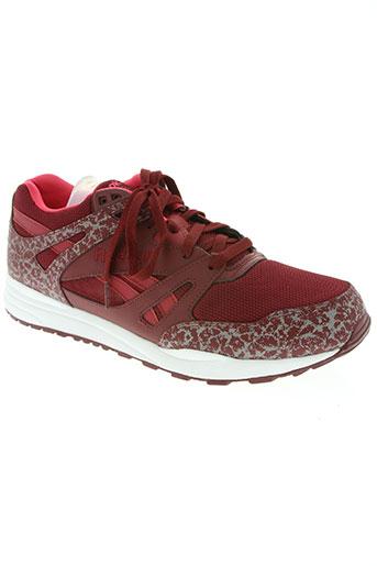 reebok chaussures homme de couleur rouge
