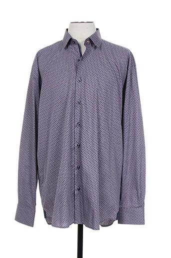 xoos chemises homme de couleur bleu