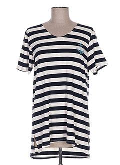 T-shirt manches courtes beige CONCRETO pour femme