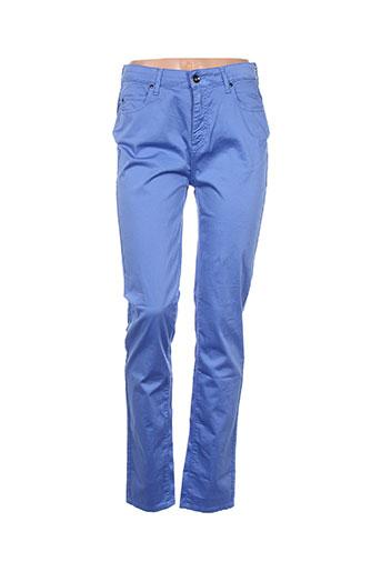 olivier philips pantalons femme de couleur bleu