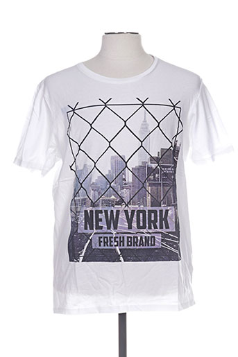 fresh brand t-shirts homme de couleur blanc