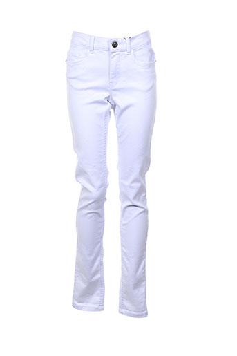Pantalon casual blanc VERO MODA pour femme