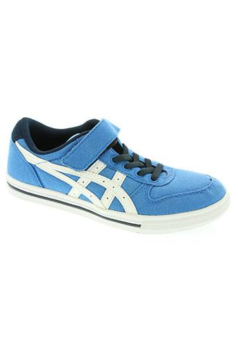 onitsuka tiger chaussures garçon de couleur bleu