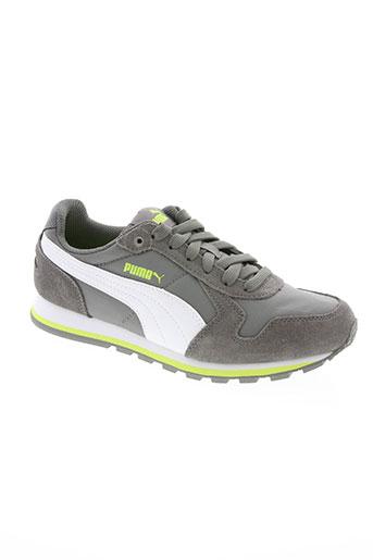 puma chaussures garçon de couleur gris