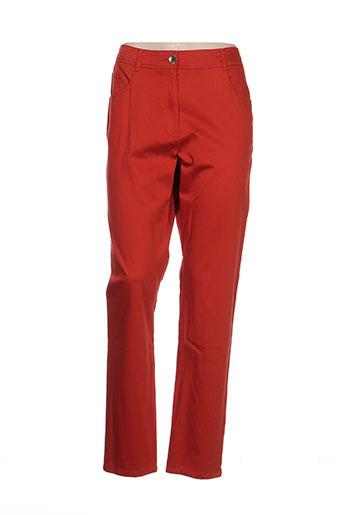 pause cafe pantalons femme de couleur orange