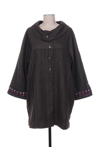 zelti manteaux femme de couleur marron