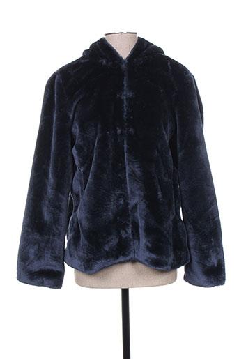 vila manteaux femme de couleur bleu