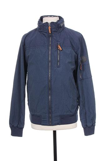 s.oliver vestes homme de couleur bleu