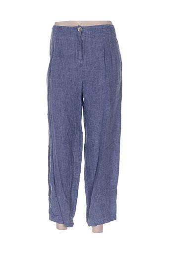 deca pantalons femme de couleur bleu