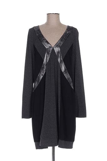 lauren vidal robes femme de couleur gris