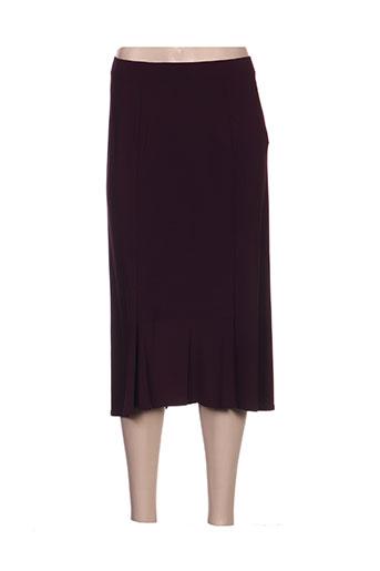 Jupe mi-longue violet ALAIN WEIZ pour femme