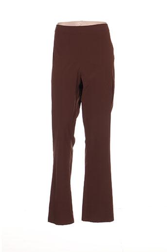 Pantalon casual marron ALAIN WEIZ pour femme