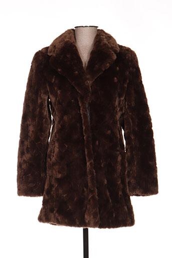 buretti manteaux femme de couleur marron