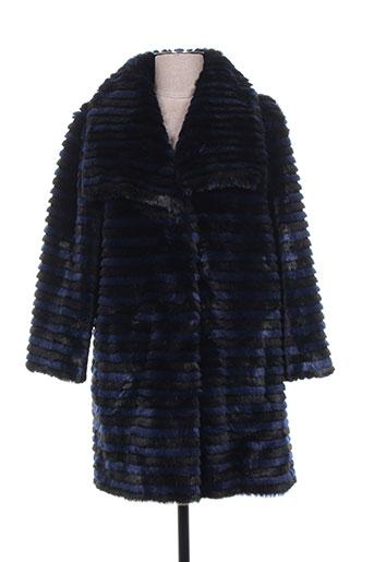 anton & moda manteaux femme de couleur bleu