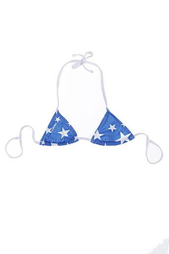 Haut de maillot de bain bleu PULL IN pour fille