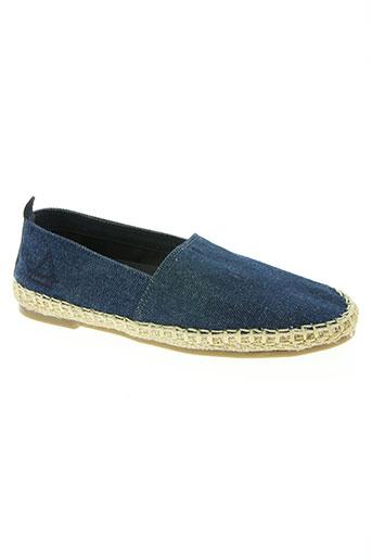 eleven paris chaussures homme de couleur bleu
