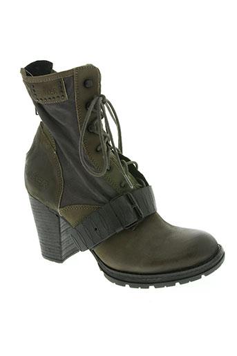 bunker chaussures femme de couleur vert