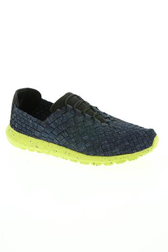 bernie mev chaussures femme de couleur bleu