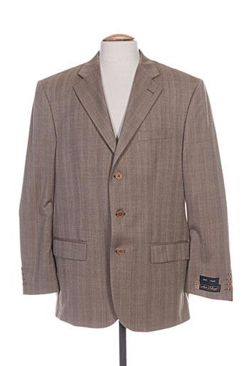 griffe noire vestes homme de couleur marron