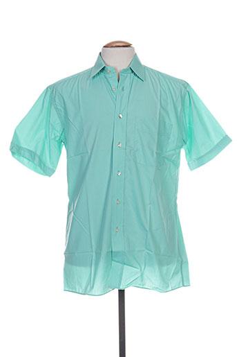 Chemise manches courtes vert PIERRE CARDIN pour homme