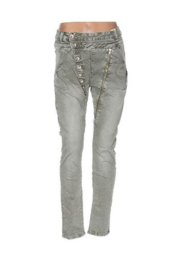mozzaar jeans femme de couleur vert