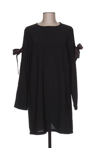 Robe courte noir DAPHNEA pour femme