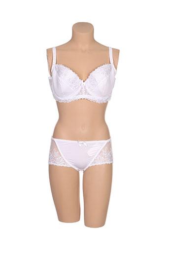 h.nathalie lingerie femme de couleur blanc