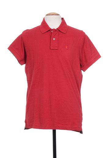 Polo manches courtes rouge TPTK pour homme