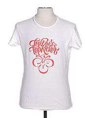 T-shirt manches courtes blanc TPTK pour homme seconde vue