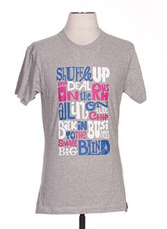 T-shirt manches courtes gris TPTK pour femme