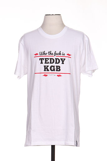 T-shirt manches courtes blanc TPTK pour homme