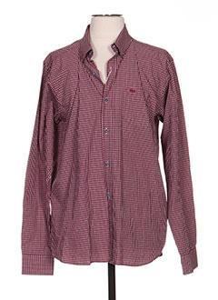 Chemise manches longues rouge TBS pour homme