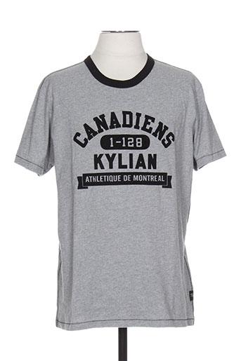 T-shirt manches courtes gris SIDECAR pour homme