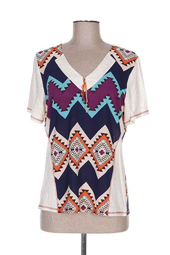nayat t-shirts femme de couleur bleu
