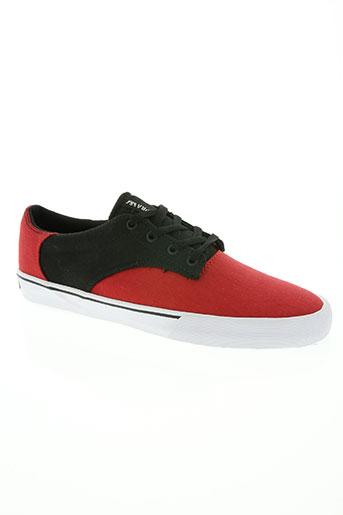 supra chaussures homme de couleur rouge