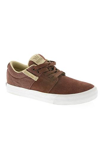 supra chaussures homme de couleur marron